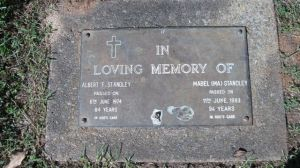 Memorial stone for Albert and Mabel