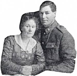 Albert and Ethel, shortly before his departure to Europe December 1916.