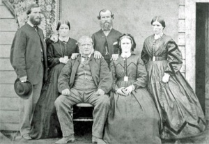The Clark Family - Seated Charles and Dinah, L-R George, Hannah, William and Sarah