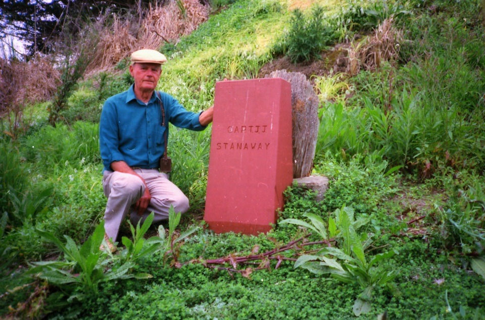 Grave site and James