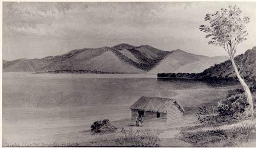 Horeke, Hokianga Harbour about 1830.