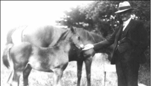 Joseph with foal - Hill Family collection.