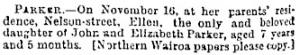 Ellen's Deah Notice - New Zealand Herald 10.12.1883