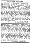 Licensing Notices - NZ Herald 12 May 1926