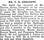 Thomas' Death notice - New Zealand Herald 11 March 1942
