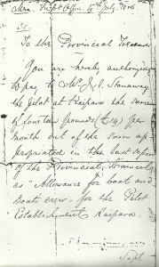 Letter from the Provisional Treasurer 4 july 1856 - Tides of Time.