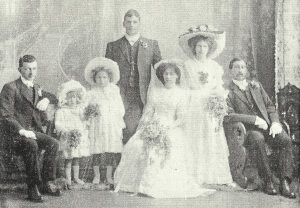 7 August 1910 Ida Stanaway (Bride) married Captain Charles Bamford Daniel in the bridal party was John Stanaway (seated on right) and Johns daughter Lennise (smallest flower girl).