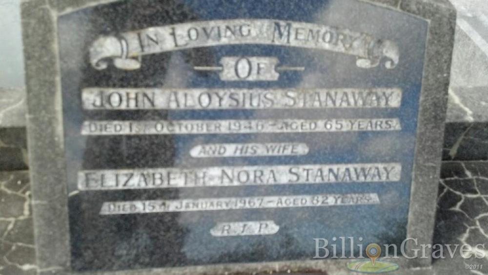 John Aloysius (Jack) Stanaway 1881 - 1946 (3/3)
