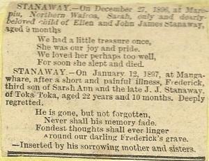 Sarah's Death Notice.