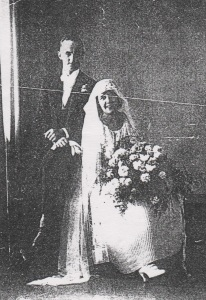 Edward Stanaway and Doris Hunt on their wedding day - Patricia Stanaway Family Collection